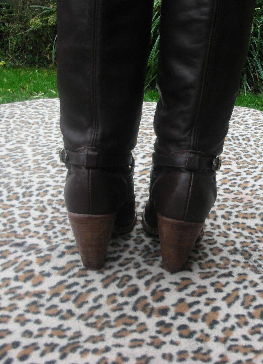 Vintage Dexter Braun Leder Größe high heeled Stiefel UK Größe Leder 5 EU38 c72a60