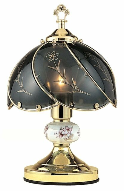 3 way touch table lamps smithdown road led black glass floral way touch table lamp gold finish base with ceramic ball