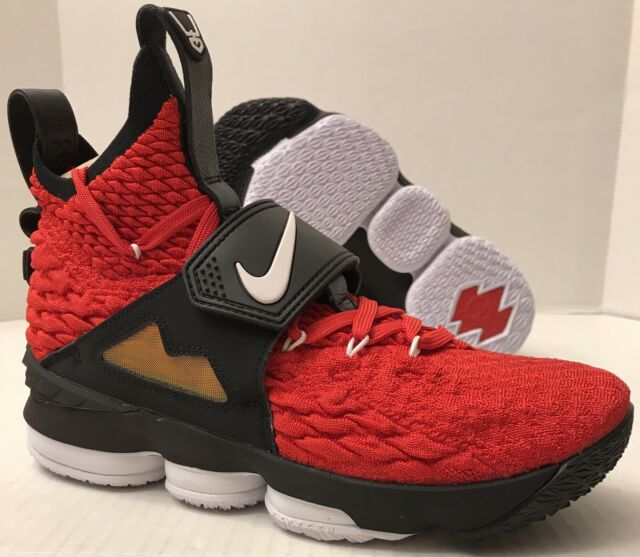 17b0249707 Ao9144 600 Nike Lebron XV 15 Primetime Diamond Turf Red White Gold Size 8