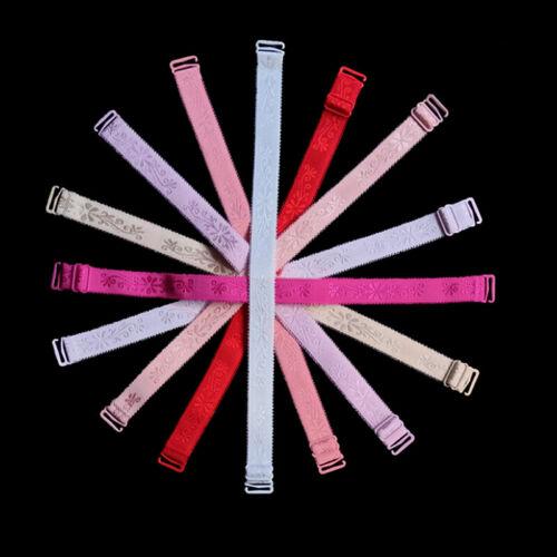1//5 Paar weiche elastische BH-Träger WomenShoulder verstellbarer Riemen Zube CBL