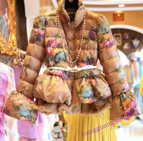 di 2016 l'inverno giù di cotone infonde fiore delle caldo cappotto l'eleganza donne Il addolcisce nuovo del modo qzfPRR