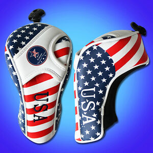 US-Flag-Golf-Fairway-Wood-FW-Cover-Headcover-For-Taylormade-Callaway-Titleist