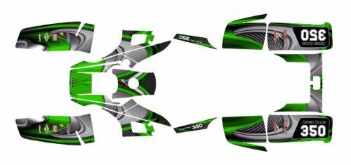 Yamaha Warrior 350 Graphics Decal kit Free Custom Service #3737-Green