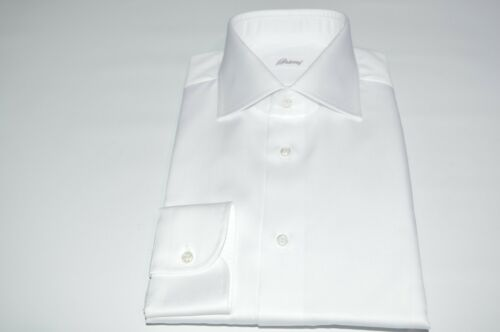 100katoen jurk Wit 18 Euma30 overhemd Brioni 46 Us Nieuw Maat SpqUMzV