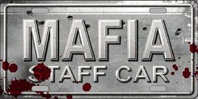 MAFIA STAFF CAR METAL LICENSE PLATE AUTO TAG NUMBER 375