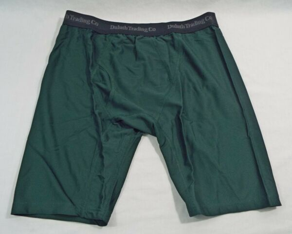1 Coppia Duluth Trading Co X Lungo Buck Naked Mutande Boxer Verde Cacciatore