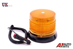 12V-32-LED-Magnetique-Clignotant-Ambre-Phare-Lorry-Voiture-Van-Tracteur-Forklift