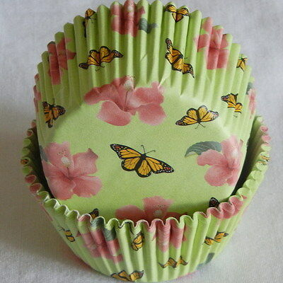 CK66 - Butterfly & flower cupcake liners paper cup muffin cases free shipping