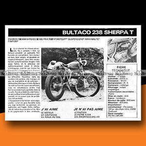 BULTACO 250 SHERPA T (238 cc) 1977 Essai Moto / Original Road Test #c185 - France - État : Trs bon état: Livre qui ne semble pas neuf, ayant déj été lu, mais qui est toujours en excellent état. La couverture ne présente aucun dommage apparent. Pour les couvertures rigides, la jaquette (si applicable) est incluse. Aucune p - France