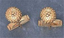 GOLF GIFT - GOLD STYLE GOLFBALL CUFFLINKS - BNIB - BAG BALL IRON TEE WOOD PUTTER