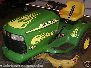 Lawn Tractor #1 Flame Flames Decal Decals FIT John Deere ...