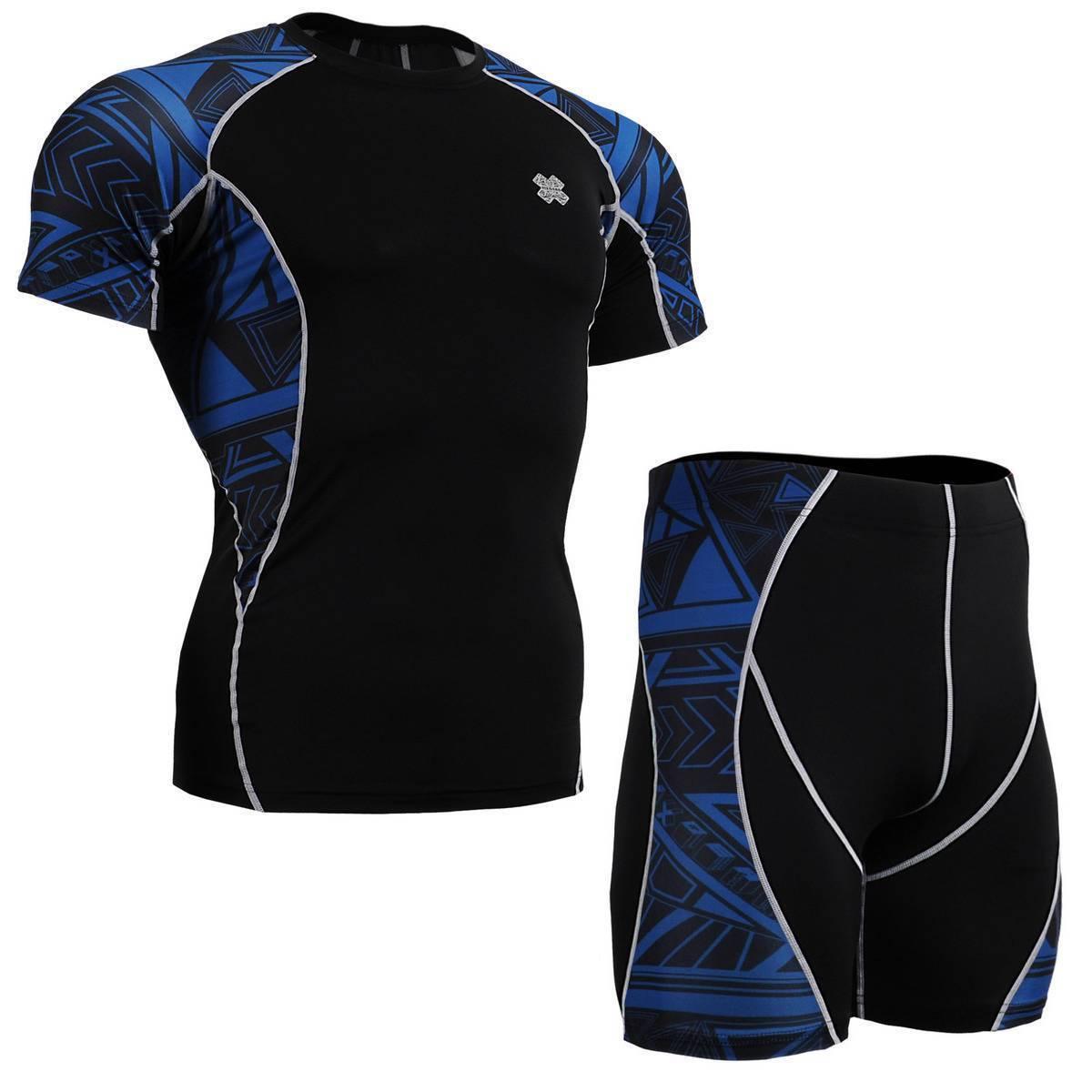 FIXGEAR C2S P2S-B1 SET Compression Shirt & Shorts Skin-tight MMA Base Layer