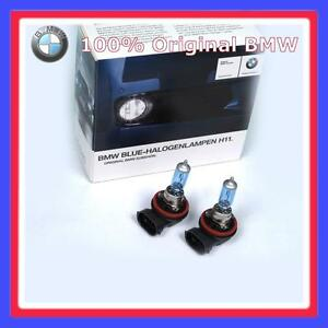 2x h11 original bmw blue halogenlampe ebay. Black Bedroom Furniture Sets. Home Design Ideas