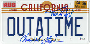 MICHAEL-J-FOX-CHRISTOPHER-LLOYD-BACK-TO-THE-FUTURE-SIGNED-LICENSE-PLATE-BAS-9
