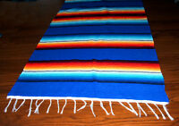 Serape Table Runner Table Topper 2x5' Southwestern Fiesta Lightweight Royal Blue