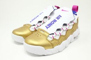 80b188eb5381 Nike Air More Money GS   AH5215 101 Gold Fuchsia Racer Blue Big Kids ...