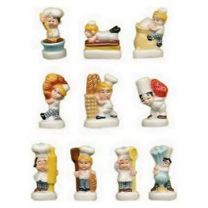 f ves de collection en porcelaine les petites boulpat s rie compl te 10 f ve ebay. Black Bedroom Furniture Sets. Home Design Ideas
