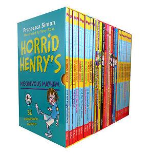 Horrid-Henry-30-books-set-Collection-By-Francesca-Simon-Inc-Mischievous-Mayhem