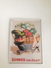 Guinness Bier - GEMÜSE SCHUBKARRE -  Mini Blechschild Blechkarte Irland Sign 13