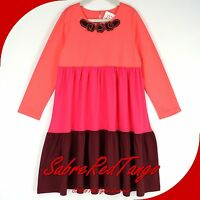 Hanna Andersson Corsage Twirl Girl Dress Pink Multi Colorblock 120 7