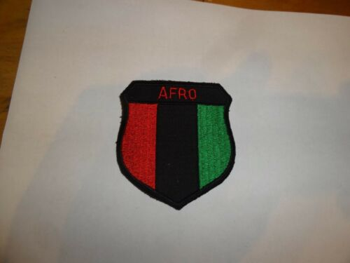 MILITARY PATCH OLDER GERMAN MADE AFRO RED BLACK GREEN
