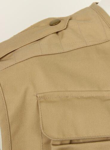 Chasse Extérieur Pêche Sans Gilet Multi Manche Beige poches Homme Utilitaire ApIq1F