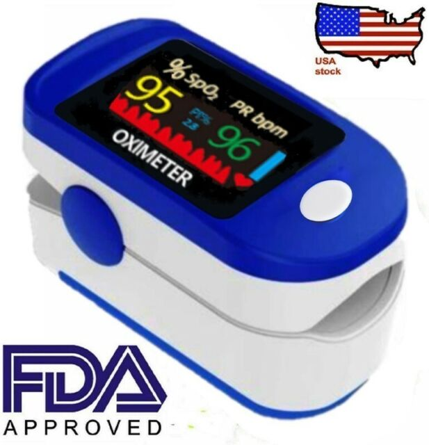 Digital Readings for SpO2//Pulse Rate DBHAWK Fingertip Blood Oxygen Saturation Monitor with LED Screen