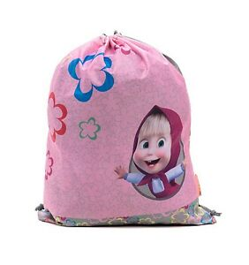 46eed45332b78 Details about Bag for Shoes Masha and the Bear Backpack Bag Preschool for  Baby Small pink