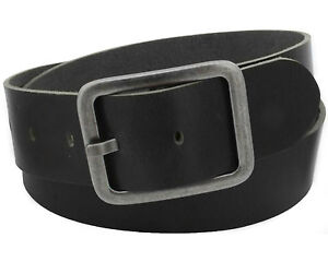 5-cm-Bueffelleder-Guertel-schwarz-echtes-Leder-Lederguertel-Jeansguertel-Vascavi-NEU