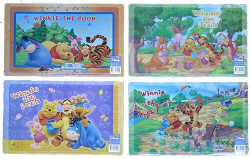 Set of 4 Waterproof Placemats 43x28cm Choice of Disney Princess Winnie The Pooh