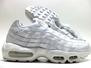 425cff9f86de1 NIKE AIR MAX 95 WHITE/WHITE TRIPLE WHITE SIZE WOMEN'S 10/MEN 8.5 ...