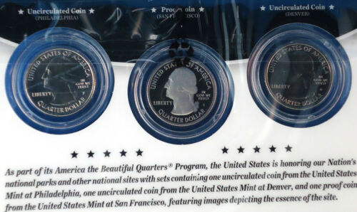 2013 America the Beautiful Quarters 3-Coin Set Fort McHenry National Monumument