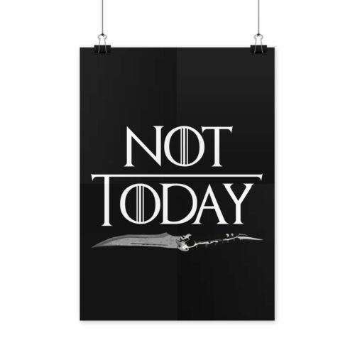 Not Today Arya Poster Arya Stark Not Today Poster