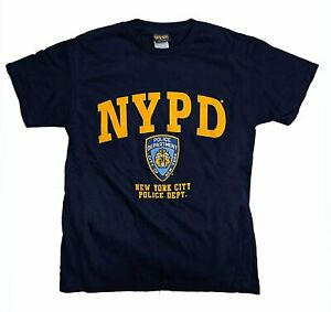 NYPD-Men-039-s-Short-Sleeve-Front-Yellow-Print-T-Shirt