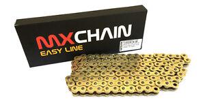MX-CHAIN-CATENA-PASSO-520-MOTO-CROSS-ENDURO-SENZA-O-RING-120-MAGLIE-ORO-GOLD