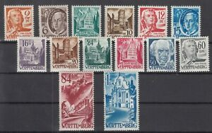DD8061/ GERMANY – FRENCH WURTTEMBERG – MI # 14 / 27 COMPLETE MINT MNH