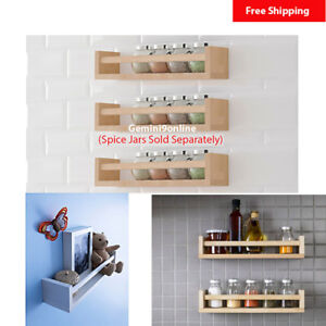 Details about IKEA Wall Shelf BEKVAM Spice Rack 1 to 3-pk Kitchen Storage  Wood for Books Toys