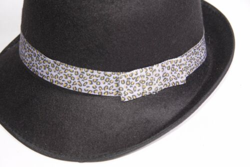 S263 Black Felt Small Fedoras W Purple /& Hints Of Pink Band For Stylish Ladies