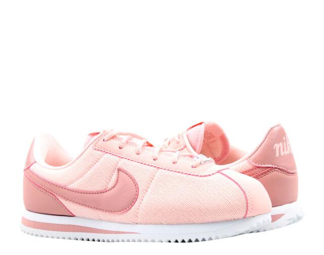 Nike Cortez Basic TXT SE Pink/pink-white Big Kids Running Shoes Aa3498-600