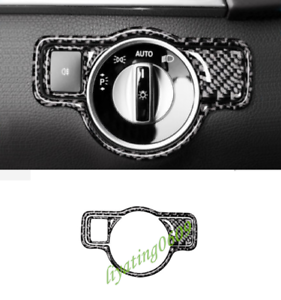 Real Carbon Fiber Headlight Switch Cover Trim For Mercedes-Benz GLE W166 15-18