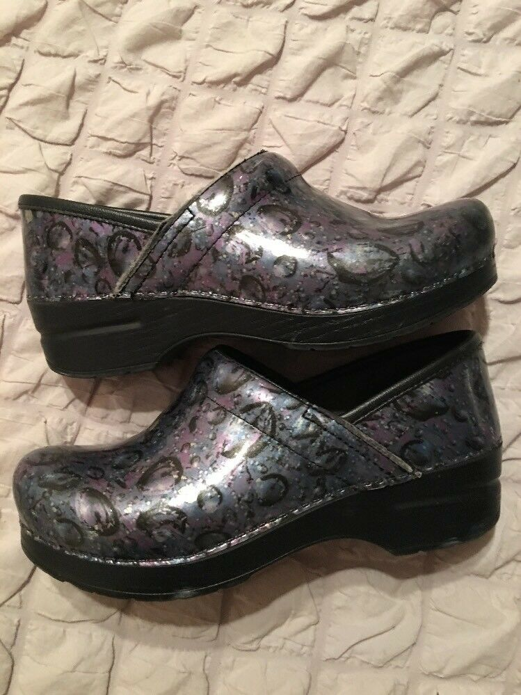 Dansko Water Water Water Drop Printed Clogs shoes Occupational Size 37 6.5 - 7 Nursing ea1a4d