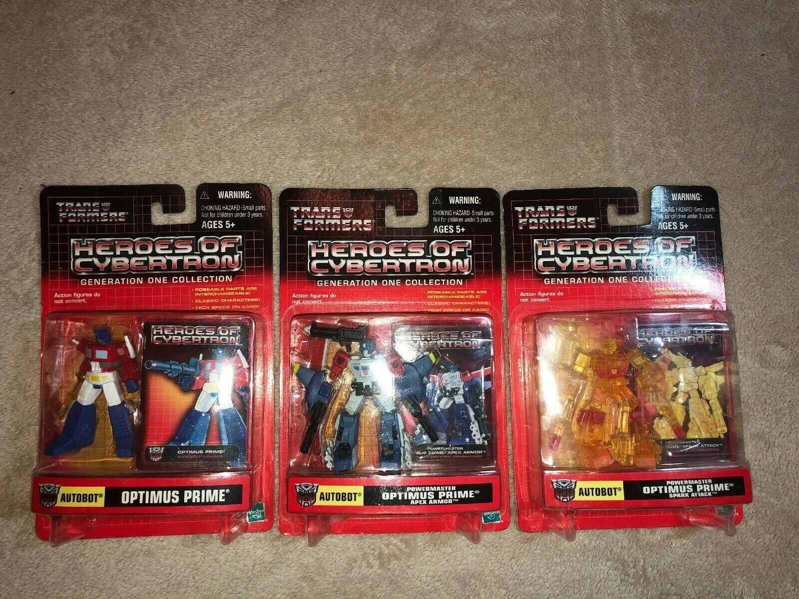 Transformers Heroes Of Cybertron 3 Variations Of Optimus Prime Moc