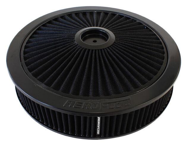 "Aeroflow 14"" X 3"" Full Flow Assembly 5-1/8"" 1-1/8"" Drop , Black, AF2251-3040"