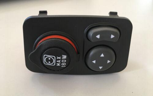 1stk d/'origine Fiat PANDA 12 V prise de courant avec Miroir Interrupteur Prise Allume-cigare
