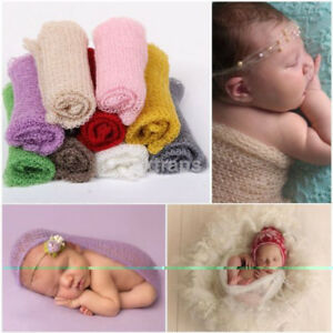 Colorful 9 Colors Newborn Baby Photography Props Stretch Baby Wraps Blanket Gift