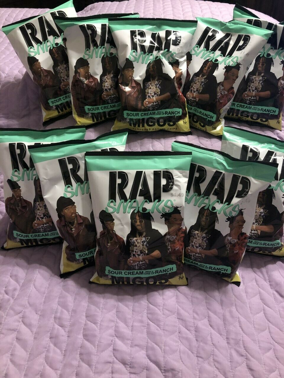 Rap Snacks Migos Sour Cream With A Dab Of Ranch 10 Count For Sale Online