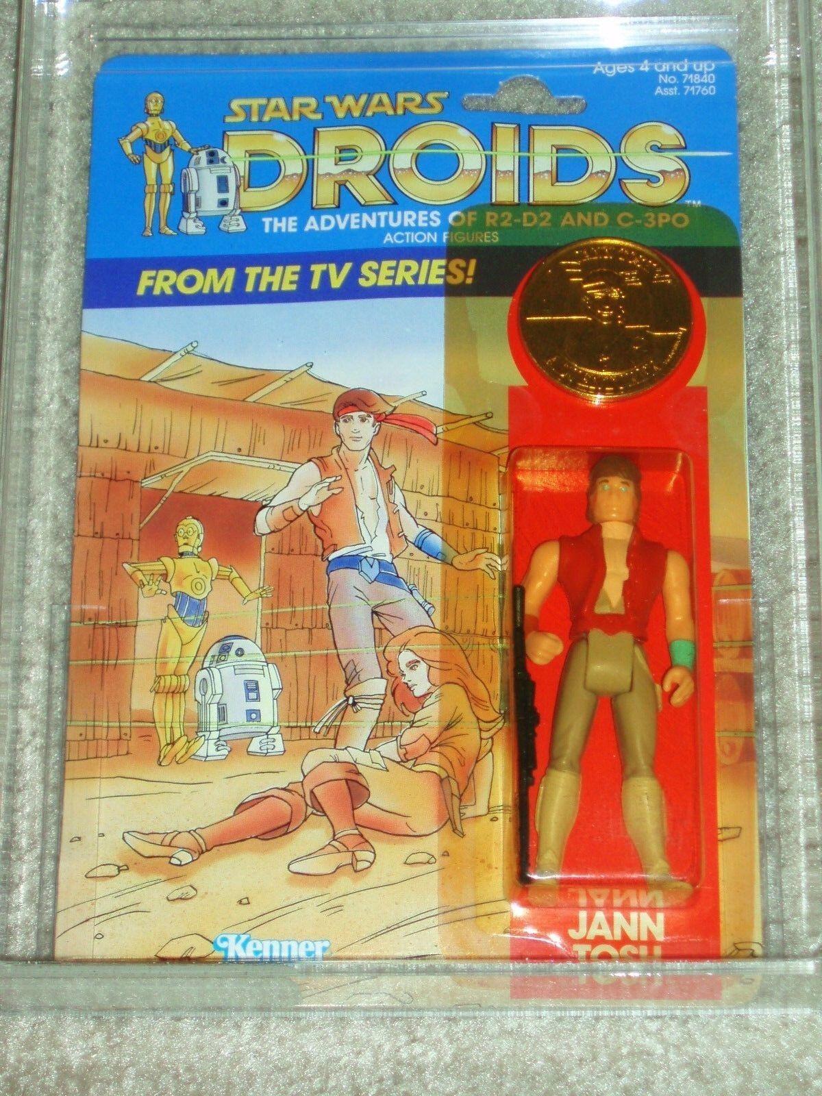 De colección Guerra de las galaxias 1985 autoridad Figura de Acción 80 Serie de Dibujos Animados TV Jana Tosh Droids Kenner menta en tarjeta
