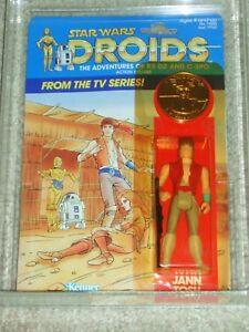 Vintage Star Wars 1985 Afa 80 Série de dessins animés Tv Droids Jann Tosh Kenner Moc!