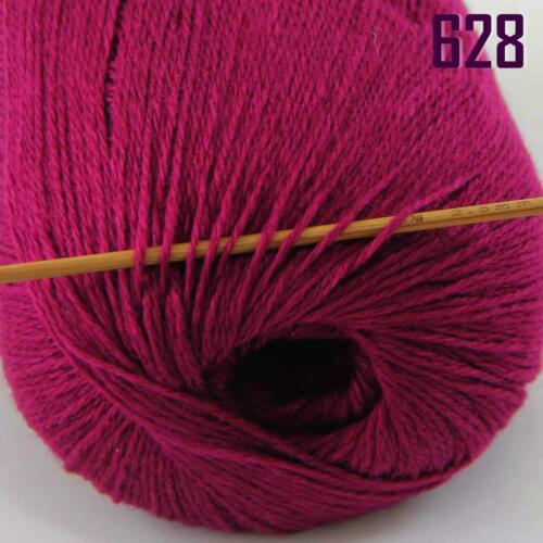 Sale New 1 ballx50g HIGHT QUALITY 100/% Cashmere Hand Knitting Yarn Solid Color