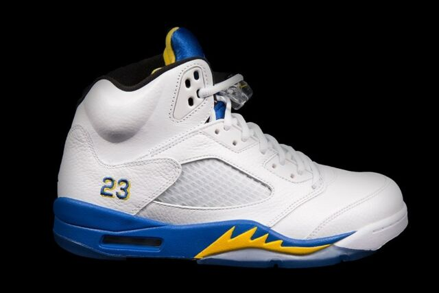 de1bd7632023 RARE Nike Air Jordan 5 V Retro Laney White Varsity Maize Royal 10.5 136027